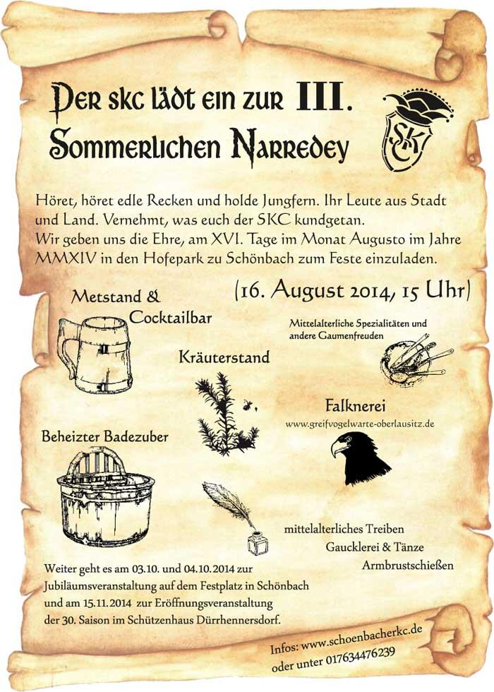 oberlausitzmyhome - blog: mittelalterliche narredey für jung und, Einladung
